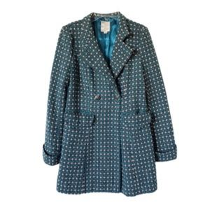 ANTHROPOLOGIE | TULLE Teal Double Breasted Coat